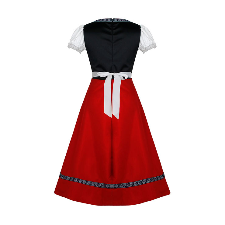 Women's Traditional Bavarian Beauty Oktoberfest Dress Adult Cosplay Costume N16142