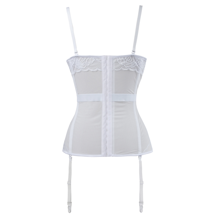 Women's Sexy Charming White Lace Bustier Corset N16324