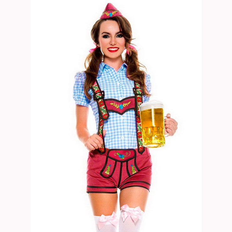 44f128a562c0 Classical Adult Beer Girl Suspenders Germany Oktoberfest Costume N17125