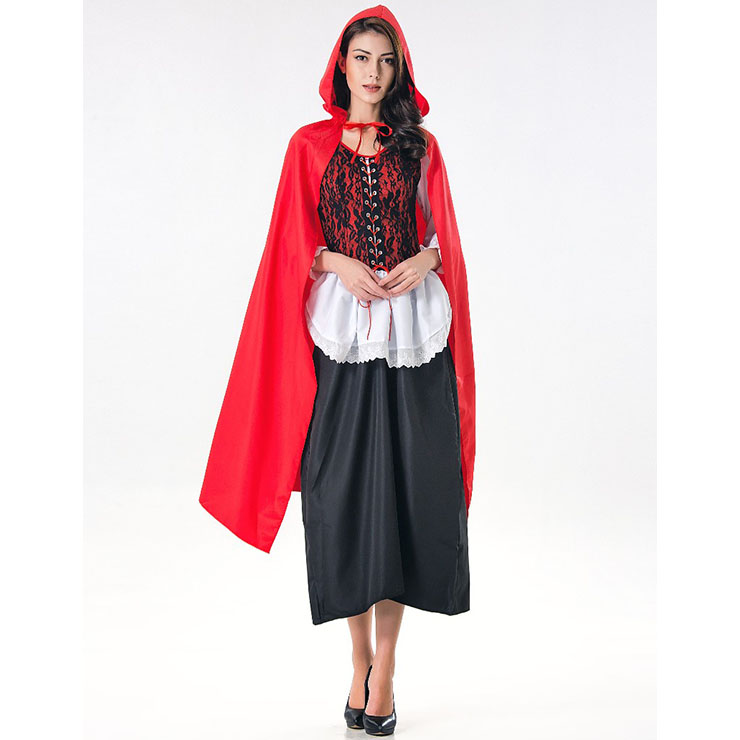 94e977a9c3 Deluxe Fairytale Red Riding Hood Adult Cosplay Halloween Costume ...