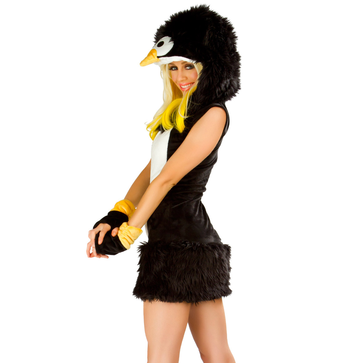 Trick-or-treaters of all ages can waddle door to door this Halloween with fun penguin costumes. With a vast inventory on eBay, finding all sizes and styles is simple. For those littlest pumpkins, opt for baby penguin costumes. These consist of fleece and felt materials.