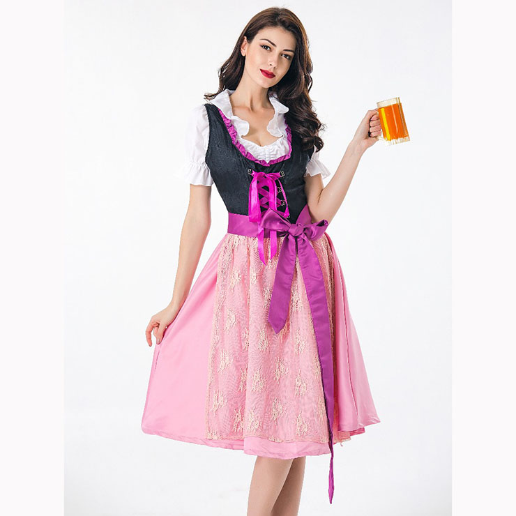 Traditional Germany Beer Girl Dress Adult Oktoberfest Costume N17436