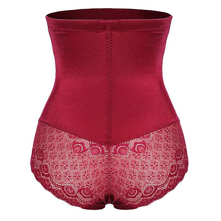 Sexy Red High Waist Elastic Slimming Seamless Panties Plus Size Bodyshaper Girdles PT18611