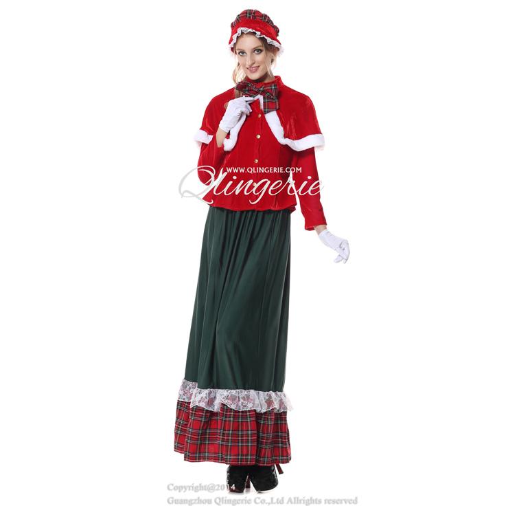Yuletide lady adult costume