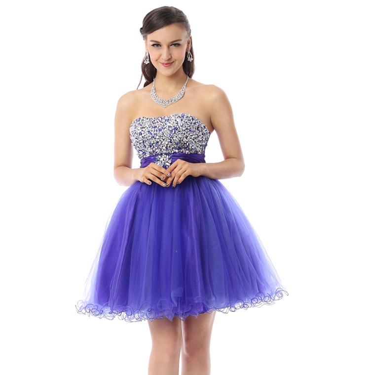 Violet Cocktail Dresses 53